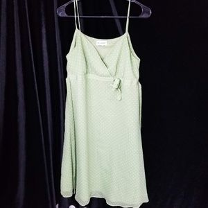 Motherhood Maternity Dress Sz S Green & White